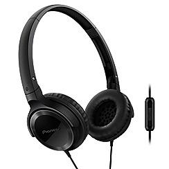 Pioneer - Black SE-MJ502T-K overhead headphones with in line mic
