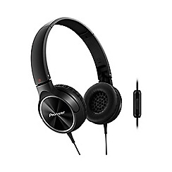 Pioneer - Black SE-MJ522T-K overhead headphones with in line mic