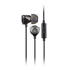 KitSound - Black 'Edge' in-ear headphones