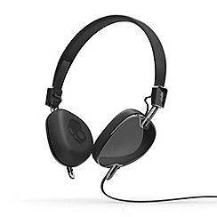 Skullcandy - Navigator black on-ear headphones with microphone