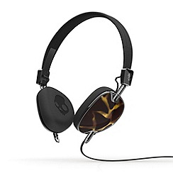 Skullcandy - Navigator blue and black on-ear headphones with microphone