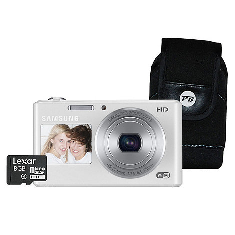 Samsung - DV151 White Camera Kit, 16.2 MP, 5x optical zoom