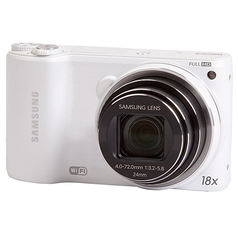 Samsung - WB250F Camera White 16.4MP 18x optical zoom, 3 inch TouchLCD, 720pHD 24mm Wide, SD/SDHC