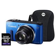 Canon Powershot SX270 HS Blue Camera Kit, 12.1MP, 20x optical zoom, 3 inch LCD, 1080p