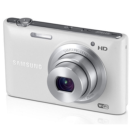 Samsung - ST150 Camera White 16.2MP 5x optical zoom, 3 inch LCD, 720p HD, 25mm Wide lens