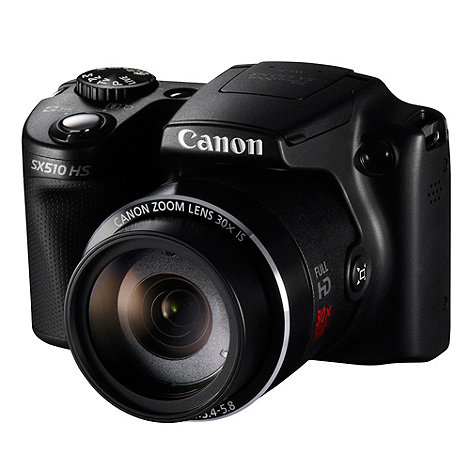 Canon - Powershot SX510 Camera Black 12MP 30x optical zoom, 3 inch LCD, 1080p FHD, 24mm Wide Lens