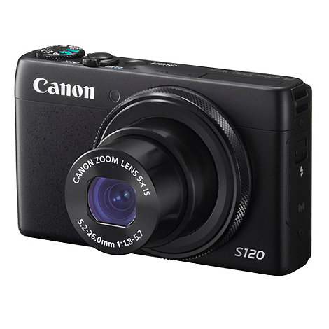 Canon - Powershot S120 Camera Black 12MP 5x optical zoom, 3 inch LCD, 1080p  FHD, 24mm Wide Lens, WiFi