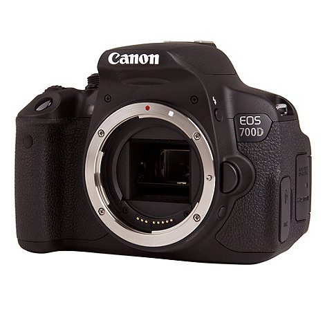 Canon - EOS 700D SLR Camera Black Body Only, 18MP, 3 inch Touchscreen LCD, 1080p FHD