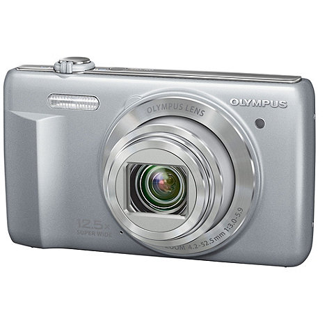 Olympus - VR-370 silver camera 16MP, 12.5x optical zoom, 3.0 LCD, 720p HD 24mm wide lens