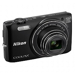 Nikon - Coolpix S6800 black camera,2x optical zoom, 3.0LCD, 1080p FHD, 25mm Wide Lens