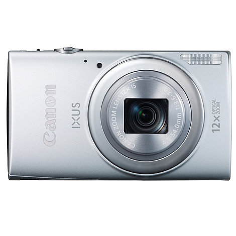 Canon - Ixus 265 HS silver camera with 12x optical zoom, 3inch LCD, 1080P FHD, 25mm wide angle lens