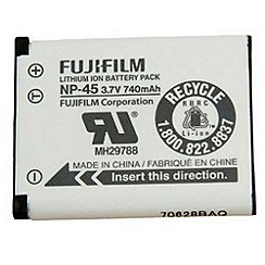 Fuji Film - Fuji NP-45 Li-Ion Rechargeable Battery for A, JV, JX, JZ, XP, T & Z series