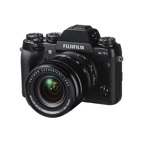 Fuji Film - Fuji FinePix X-T1 black camera with 18-55mm lens kit