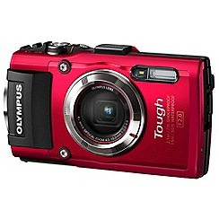 Olympus - TG-3 Tough red camera 16MP 4xZoom 3.0LCD FHD 25mm wide lens