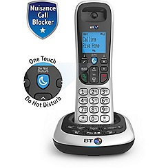 BT - Black single nuisance call blocker cordless phone 2700