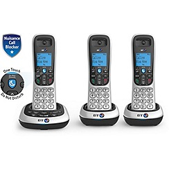BT - Black trio nuisance call blocker cordless phone 2700