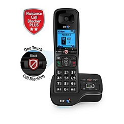BT - Black single nuisance call blocker cordless phone 6600