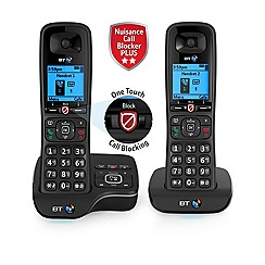 BT - Black twin nuisance call blocker cordless phone 6600