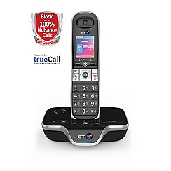 BT - Black single nuisance call blocker cordless phone 8600