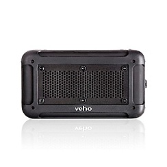 Veho - Black vecto water resistant wireless portable bluetooth speaker