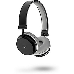 KitSound - Black metro over-ear bluetooth headphones