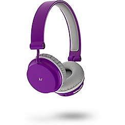 KitSound - Purple 'Metro' over ear wireless bluetooth headphones KSMEPU