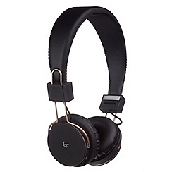 KitSound - Black Manhattan over-ear bluetooth headphones
