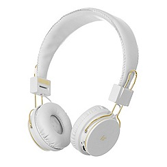 KitSound - White Manhattan over-ear bluetooth headphones