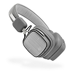 KitSound - Grey 'Clash Evo' over ear wireless bluetooth headphones KSCLAEVGY