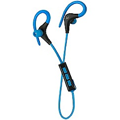 KitSound - Blue race in-ear bluetooth sports headphones