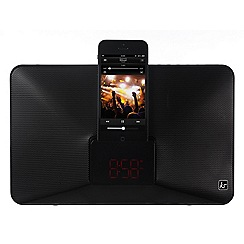 KitSound - Black fresh lightning dock clock radio/speaker