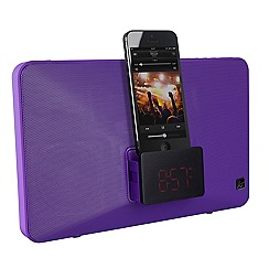 KitSound - Purple fresh lightning dock clock radio/speaker