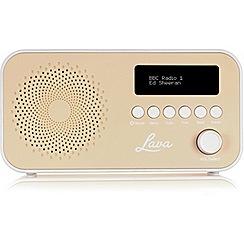 Lava - Cream dab radio & speaker