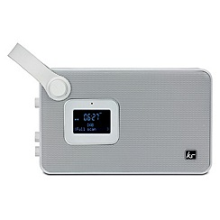 KitSound - White air dab, FM, aux & bluetooth portable radio/speaker