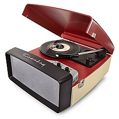 Crosley - Red collegiate blue vinyl turntable