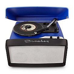 Crosley - Blue collegiate blue vinyl turntable