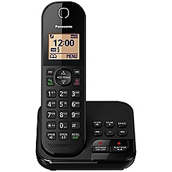Panasonic - Digital cordless telephone single answerphone KX-TGC420EB