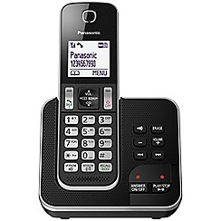 Panasonic - Digital cordless telephone single answerphone KX-TGD320EB