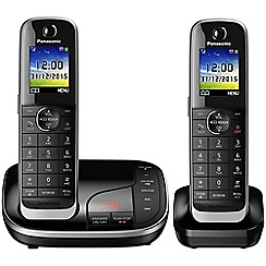 Panasonic - Digital cordless telephone twin answerphone KX-TGJ322EB
