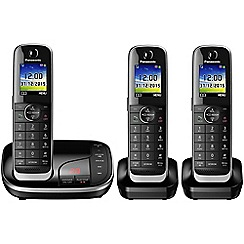 Panasonic - Digital cordless telephone triple answer phone KX-TGJ323EB