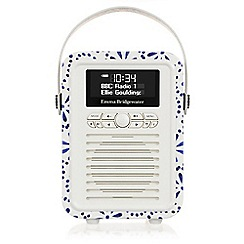 Viewquest - Retro mini dab /fm radio and bluetooth - emma bridgewater blue daisy miniebbd