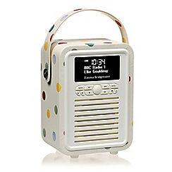 Viewquest - Retro mini dab /fm radio and bluetooth speaker polka dot miniebpd