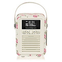 Viewquest - Retro mini radio - emma bridgewater rose and bee
