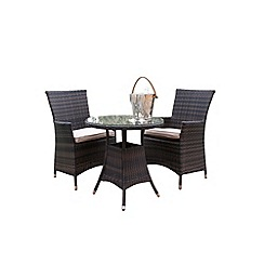 Debenhams - Brown 'LA' bistro set