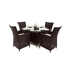 Debenhams - Brown 'LA' round table and 4 chairs