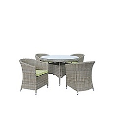 Debenhams - Brown 'Milan' round table and 4 chairs
