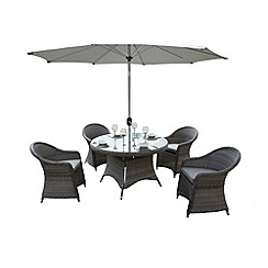 Debenhams - Grey 'Victoria' round table and 4 chairs