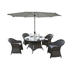 Debenhams - Grey 'Victoria' round table and 4 chairs