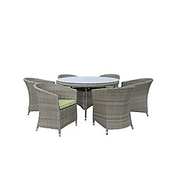 Debenhams - Brown 'Milan' round table and 6 chairs