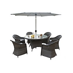 Debenhams - Grey 'Victoria' round table and 6 chairs